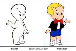 Richie rich and Casper, The friendly ghost.